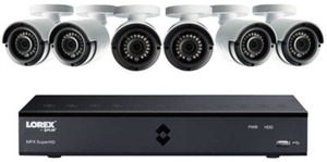 Lorex 8CH DVR 1TB HDD W/ 6 Super HD 4MP In/Out Bullet Camera Security System