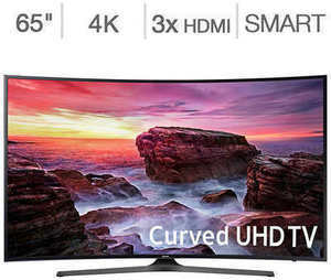 "Samsung 65"" Curved 4K Ultra HD LED LCD TV"