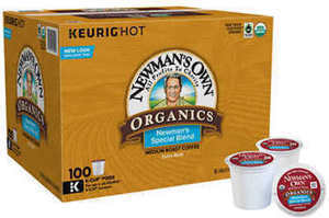 Newman's Own Organic Extra Bold Coffee, Special Blend, 100 K-Cup Pods