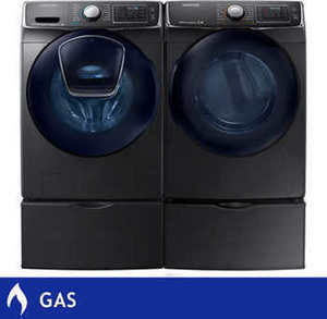 Samsung AddWash Front Load Washer & Dryer Suite w/ Pedestals