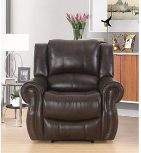 Abbyson Living Bradford Faux Leather Recliner - Dark Brown