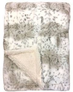 Club Grand Luxury Faux Fur to Sherpa Throw