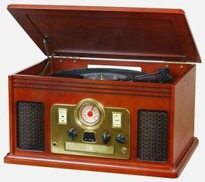 Victrola 6-in-1 Nostalgic Entertainment Center