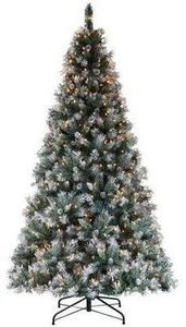 """7"""" Frosted Pine Tree w/ Cones"""