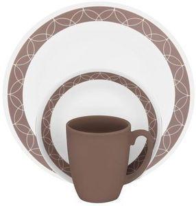Corelle Livingware Sand Sketch 16 Piece Dinnerware Set