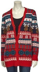 Absolutely Famous Womens Ugly Xmas Sweater Cardi
