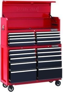 "Craftsman 52"" Wide 18-Drawer Soft Close Tool Chest and Rolling Cabinet Combination"