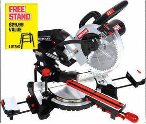 Craftsman 10-Inch Compound Miter Saw with Stand