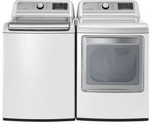 LG 5.0 cu.ft. Top Load Washer + 7.3 cu.ft. Electric Dryer Combo