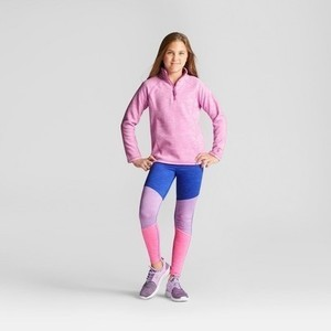 Girls' Microfleece Quarter Zip - C9 Champion