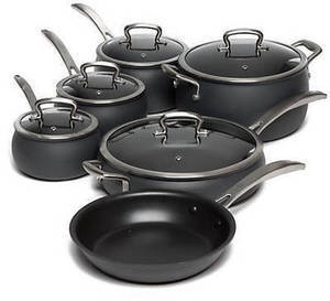 11-Pc  Hard Anodized Dishwasher Safe Biltmore Cookware Set