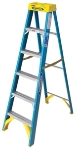 Werner 6 ft. Type I Fiberglass Step Ladder w/ Card