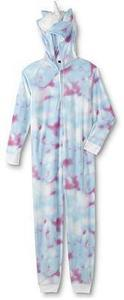 Joe Boxer Junior's Hooded One-Piece Pajamas - Unicorn