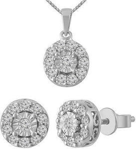Sterling Silver 2 Piece 1 ct. tw. Diamond Set