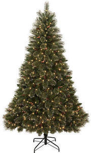 Donner & Blitzen 7.5' Sparkling Copper Spruce Tree