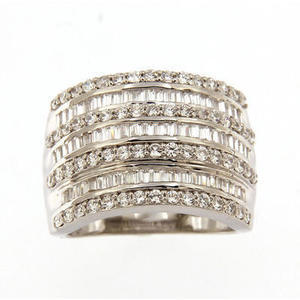 Sterling Silver 2.00 CTW Diamond Band