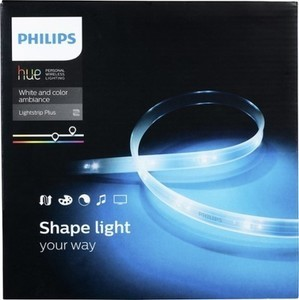"Philips Hue Lightstrip Plus 6'6"" Dimmable LED Smart Light"