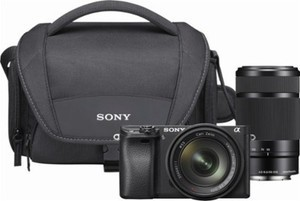 Sony - Alpha 6300 Mirrorless Camera with 16-50mm and 55-210mm Lenses