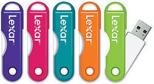 Lexar JumpDrive TwistTurn USB 2.0 Flash Drive, 32GB, Assorted Colors