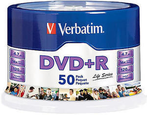 Verbatim Life Series DVD+R Spindle Pack Of 50