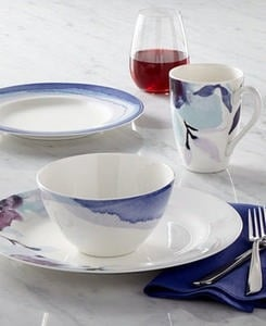 Lenox Dinnerware, Indigo Watercolor Stripe Collection