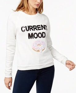 Current Mood Sequined Graphic Sweatshirt