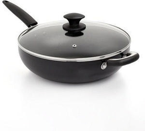 Basics Nonstick 5 Qt. Covered Chef's Pan