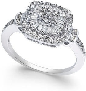 Vintage-Inspired Diamond Ring (1/2 ct. t.w.) in 14k White Gold
