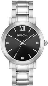 Bulova Men's Diamond-Accent Stainless Steel Bracelet Watch