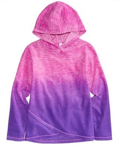 Ombr Fleece Hoodie, Big Girls (7-16)