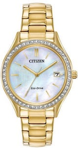 Citizen Eco-Drive Women's Gold-Tone Stainless Steel Bracelet Watch