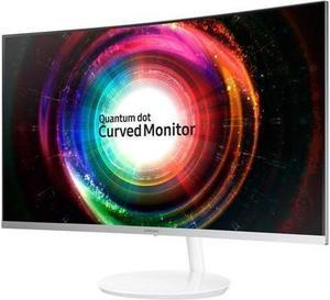 "Samsung C32H711 32"" WQHD 2K 2560 x 1440 FreeSync White Curved Gaming Monitor, Thin Bezel, Quantum Dot Technology, HDMI, Mini DisplayPort"