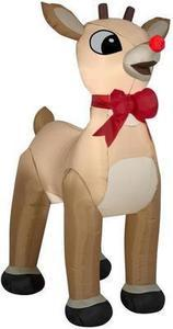 Gemmy 4.99-ft x 4.07-ft Lighted Rudolph Christmas Inflatable