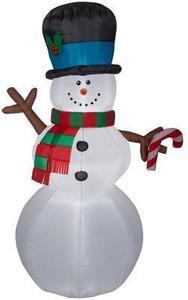 Holiday Living 6.99-ft x 4-ft Lighted Snowman Christmas Inflatable