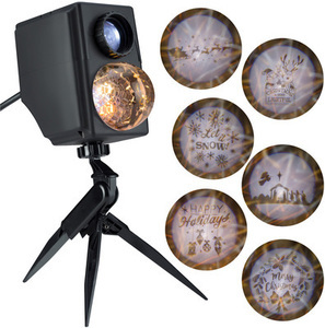 LightShow Lightshow Projection Multi-function White LED Multi-design Christmas Outdoor Stake Light Projector