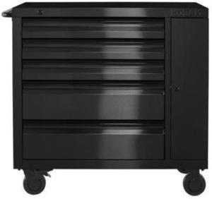 Kobalt 3000 Series 41-in x 41-in 5-Drawer Ball-Bearing Stainless Steel Tool Cabinet (Black)