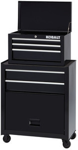 Kobalt 1000 Series 44.25-in x 26.5-in 5-Drawer Ball-Bearing Steel Tool Chest (Black)