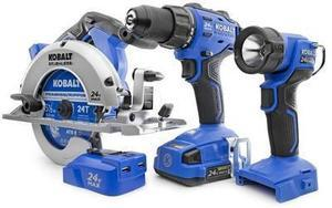 Kobalt 4-Tool 24-volt Max Lithium Ion Cordless Combo Kit