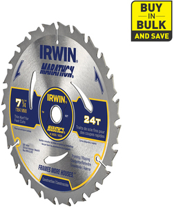 IRWIN Marathon-Pack 7-1/4-in-Tooth Circular Saw Blade