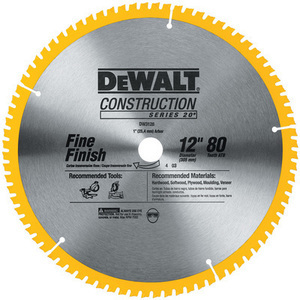 "Dewalt 12"" 80-Tooth Segmented Carbide Circular Saw Blade"