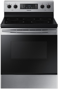 Samsung Smooth Surface Freestanding 5-Element 5.9-cu ft Self-Cleaning Electric Range (Stainless steel) (Common: 30-in; Actual: 29.875-in)