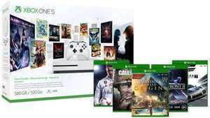 Xbox One S 500GB Console  Starter Bundle + 2 Free Select Games of Choice + Free Game