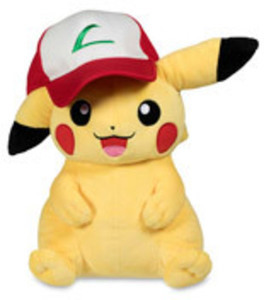Pokemon Center Plush Pikachu with Trainer Hat