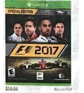 F1 2017 Special Edition (XONE) Xbox One