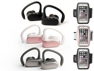 Jarv NMotion Free True Wireless Bluetooth Sport Stereo Earbuds