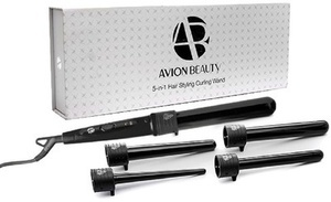 Avion Beauty Curling Wand With 5 Ceramic Tourmaline Barrels