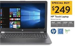 """HP 15.6"""" Touch Laptop w/ Pentium CPU, 4GB Mem + 500GB HDD"""