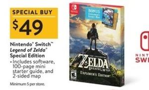 Nintendo Switch Legend of Zelda Special Edition