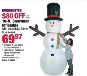 10-ft. Snowman Inflatable