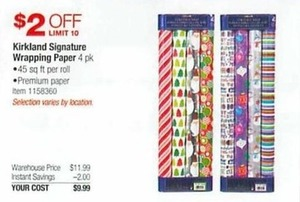 Kirkland Signature Wrapping Paper 4 Pk